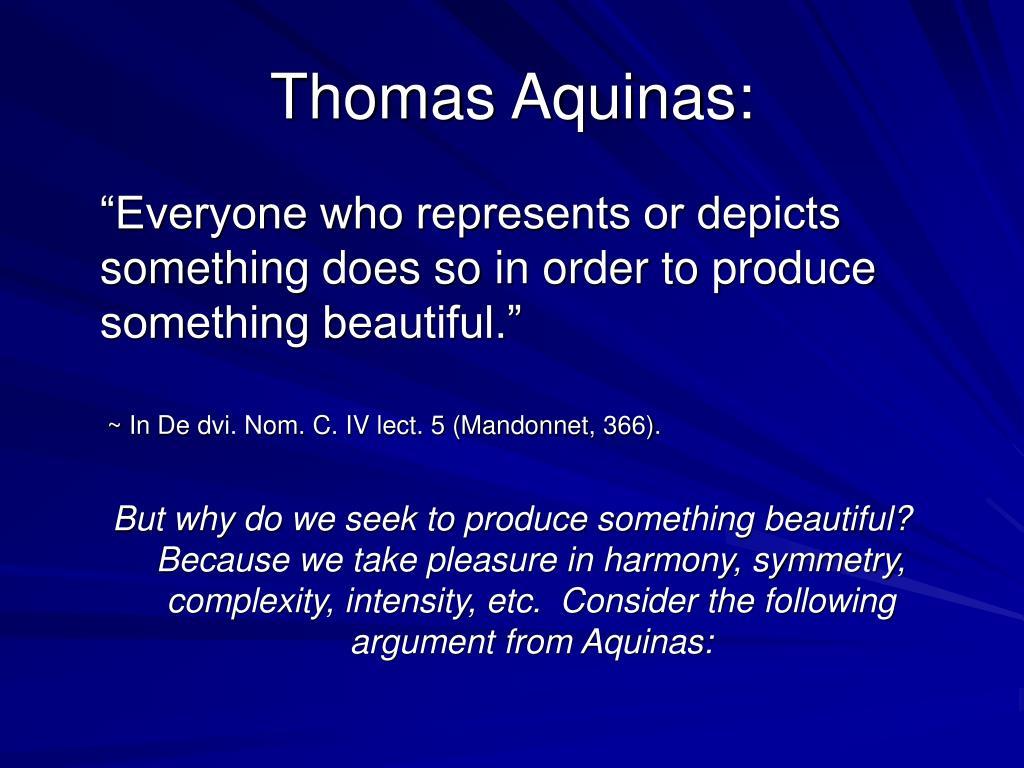 Thomas Aquinas: