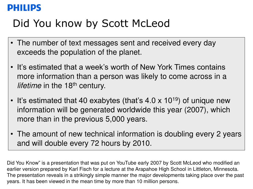 Did You know by Scott McLeod