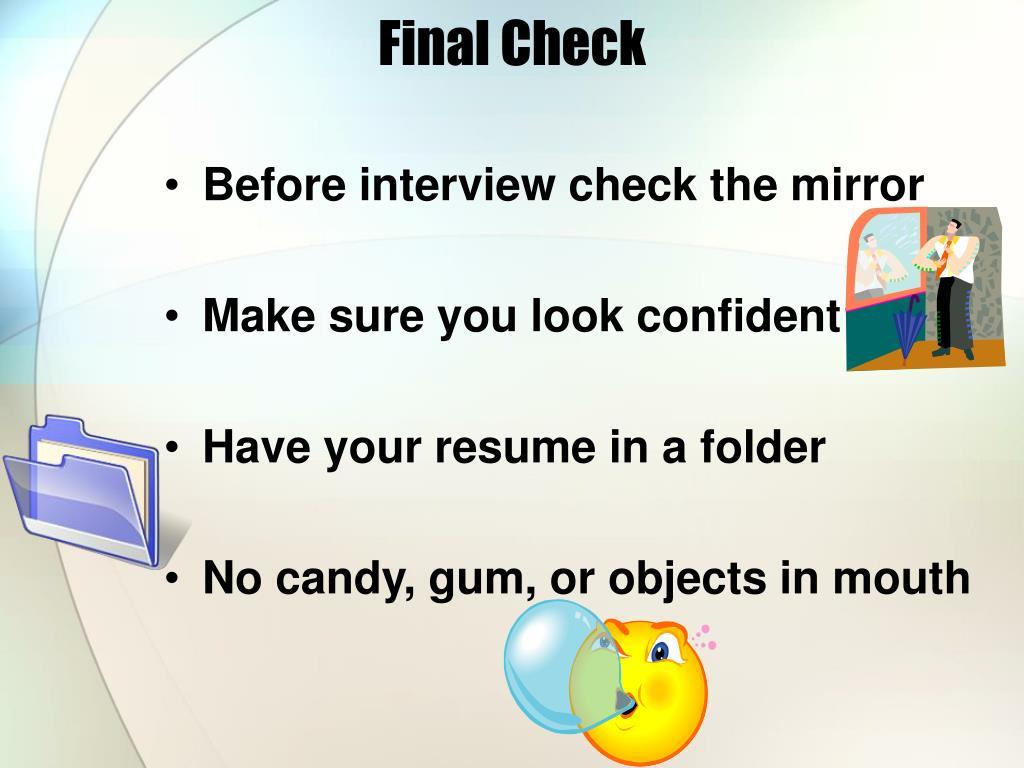 Final Check