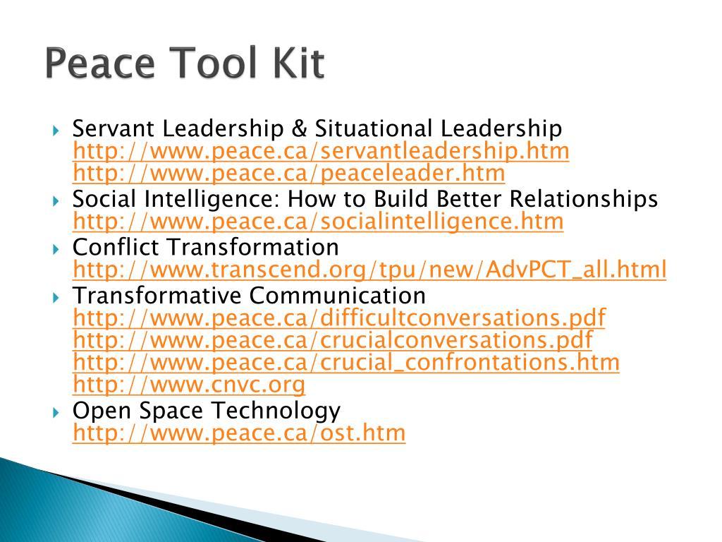 Peace Tool Kit