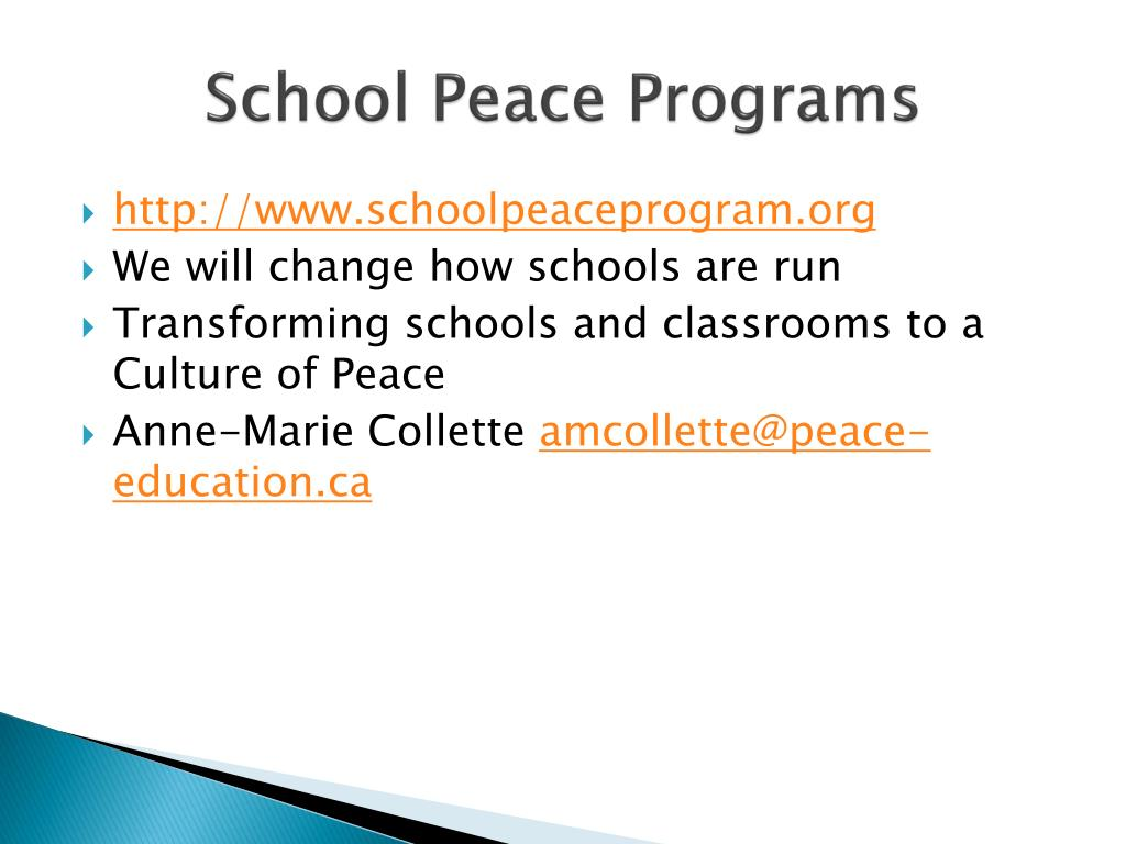 School Peace Programs