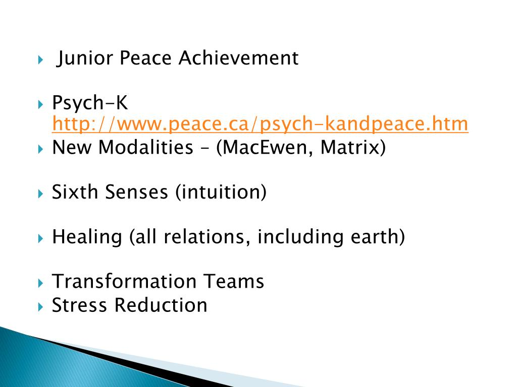 Junior Peace Achievement