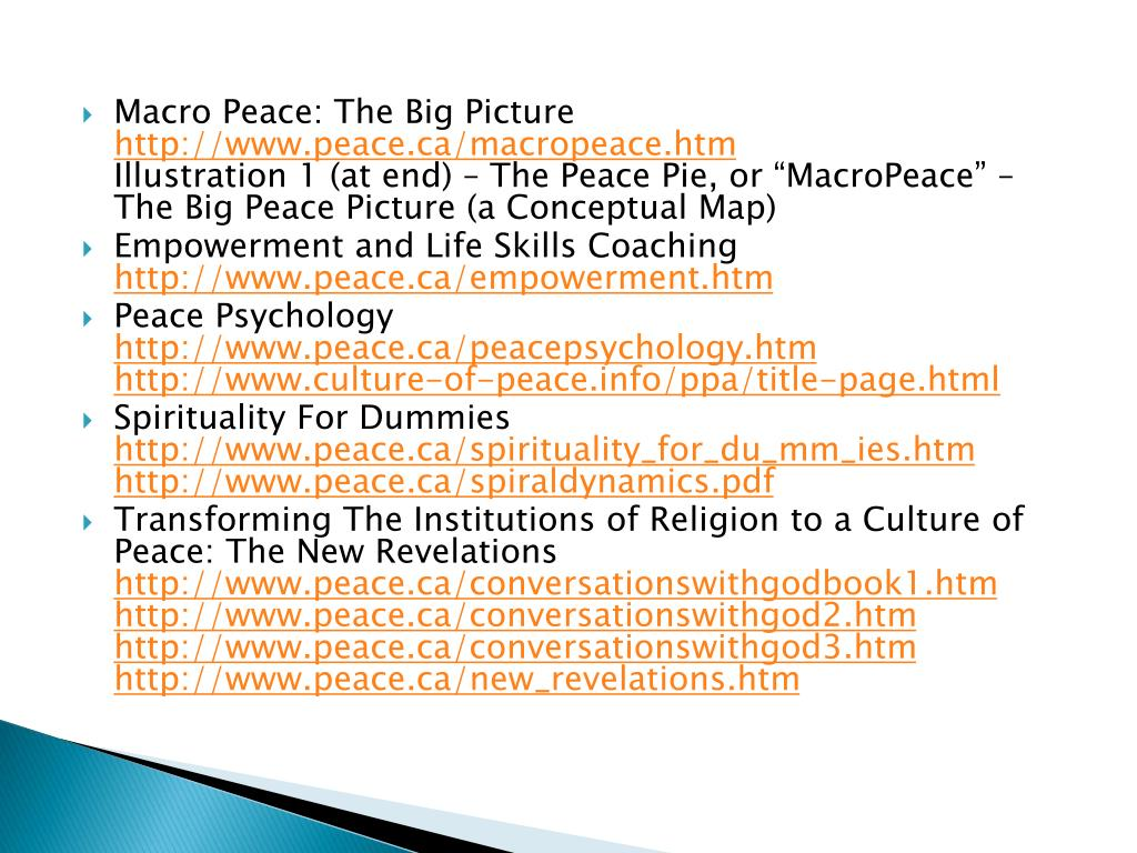 Macro Peace: The Big Picture