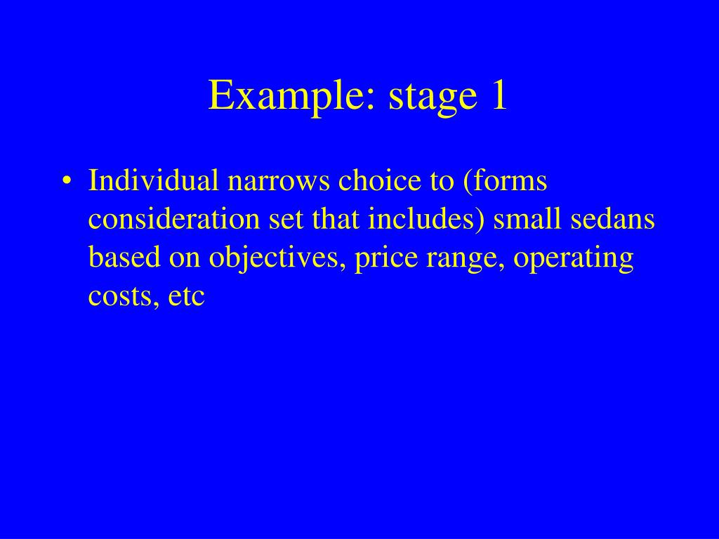 Example: stage 1