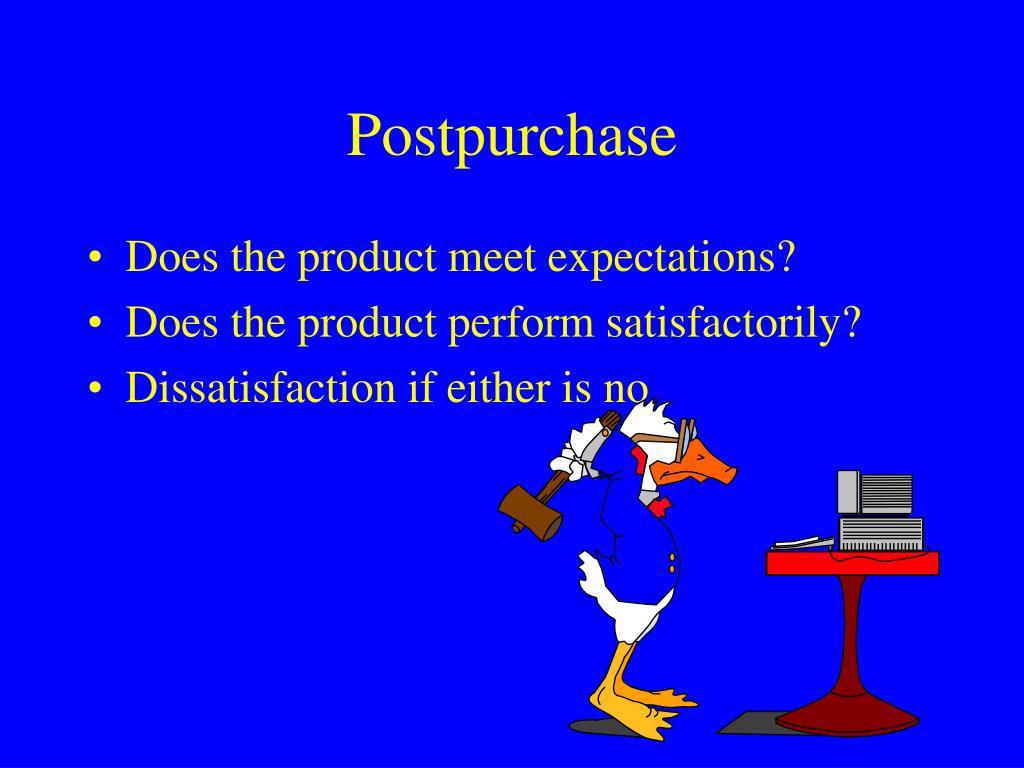 Postpurchase