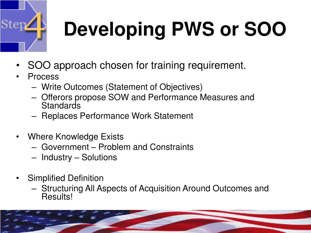 Developing PWS or SOO