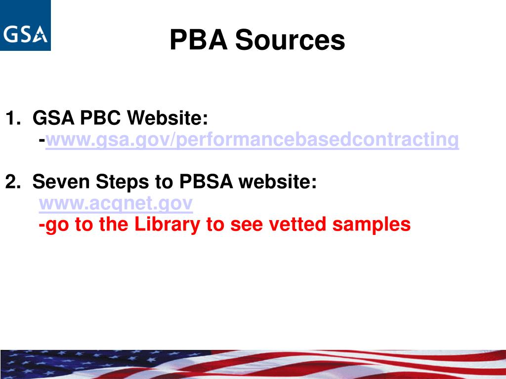 PBA Sources