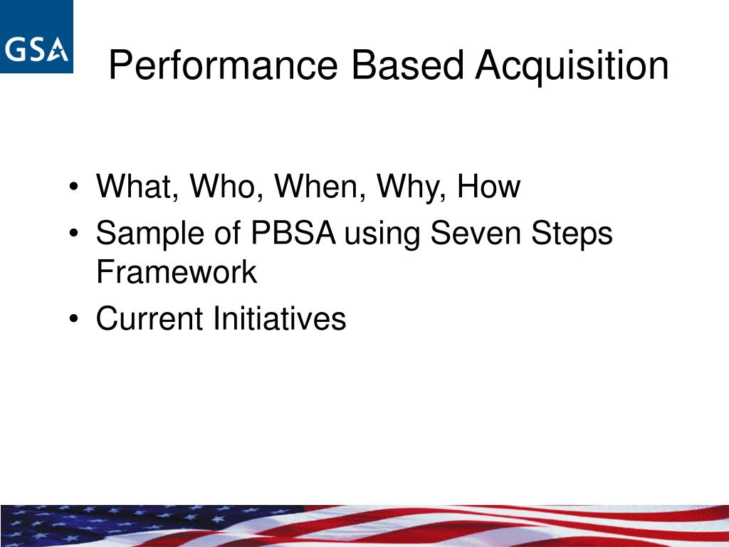 Performance Based Acquisition
