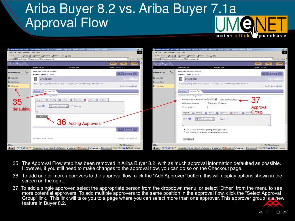 Ariba Buyer 8.2 vs. Ariba Buyer 7.1a