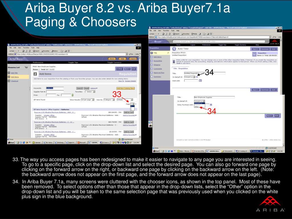 Ariba Buyer 8.2 vs. Ariba Buyer7.1a