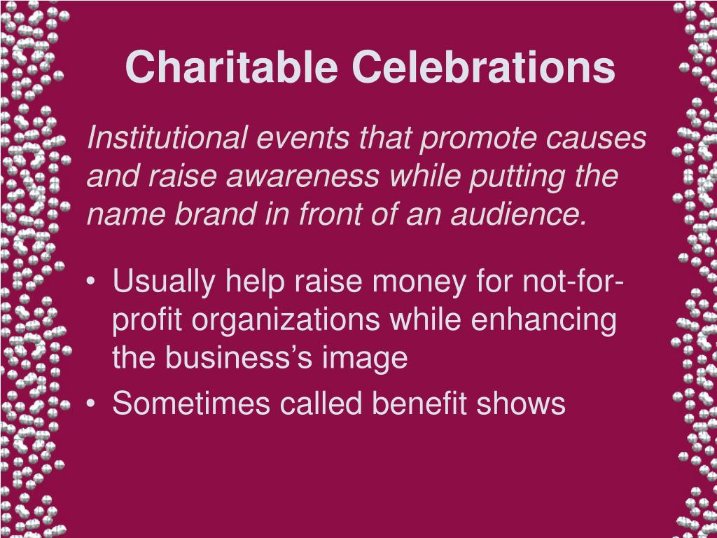 Charitable Celebrations