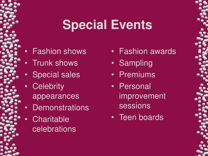 Special events3