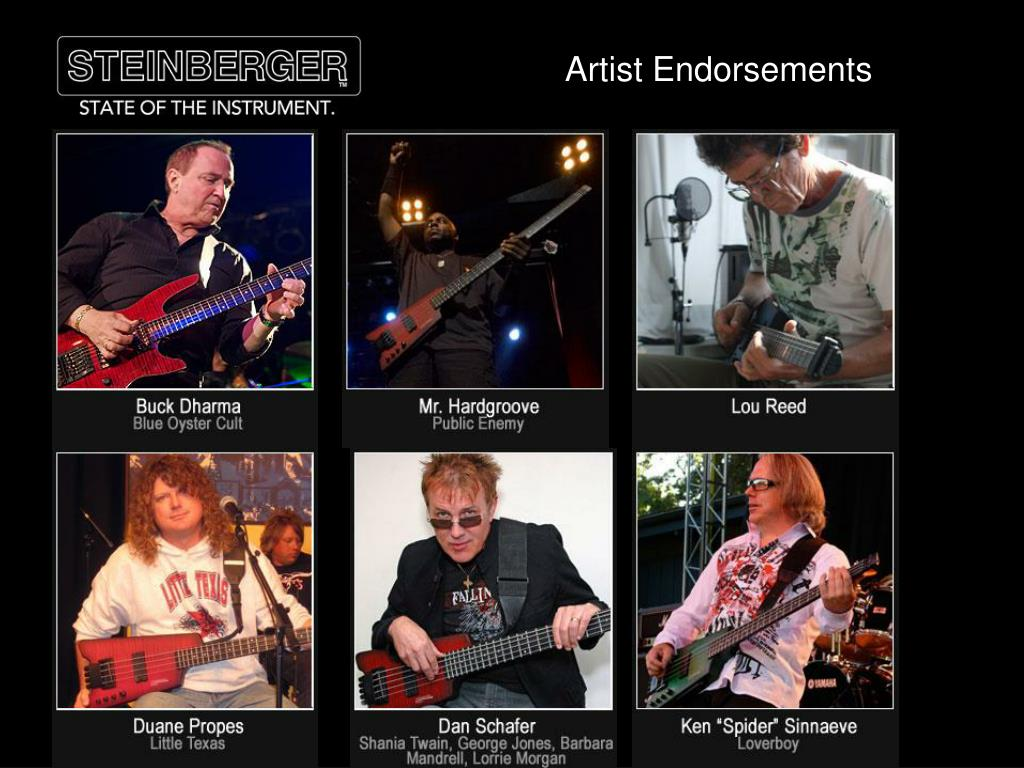 Artist Endorsements