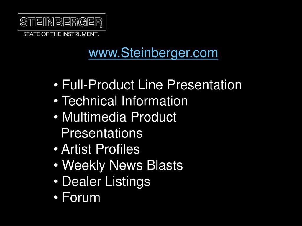 www.Steinberger.com