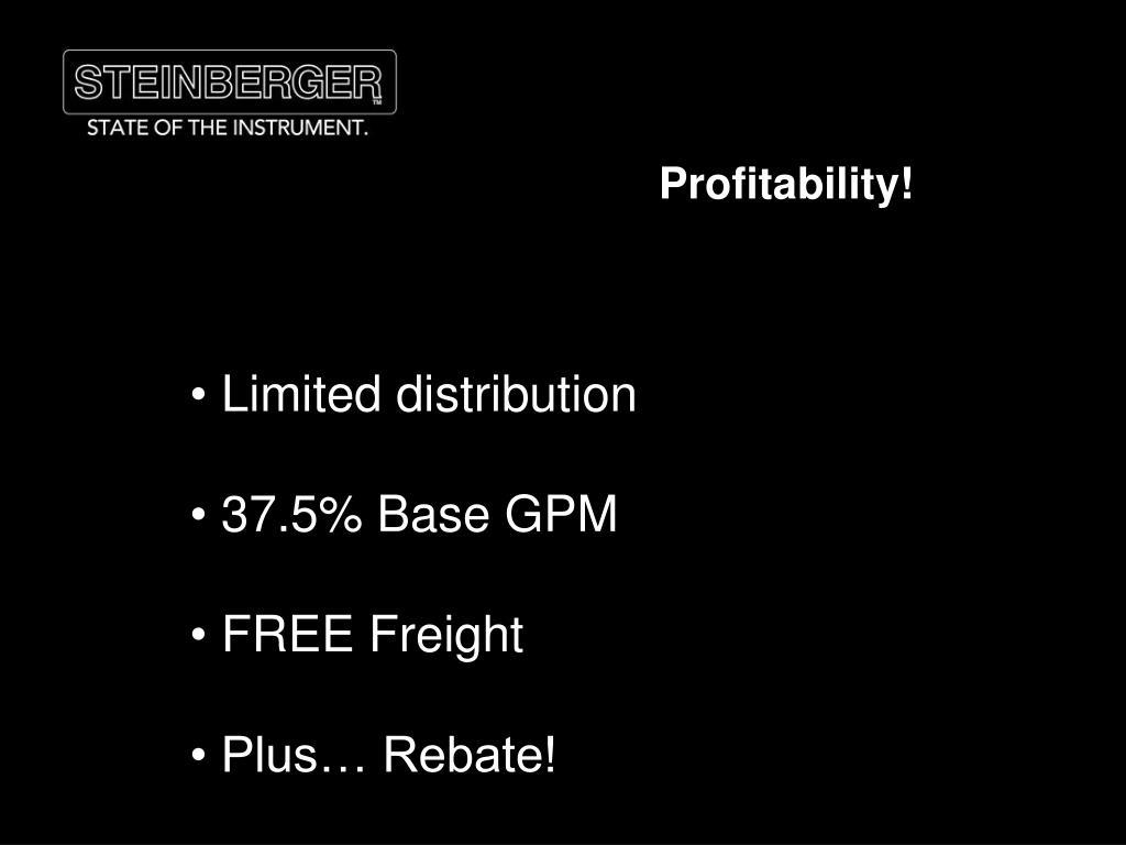 Profitability!