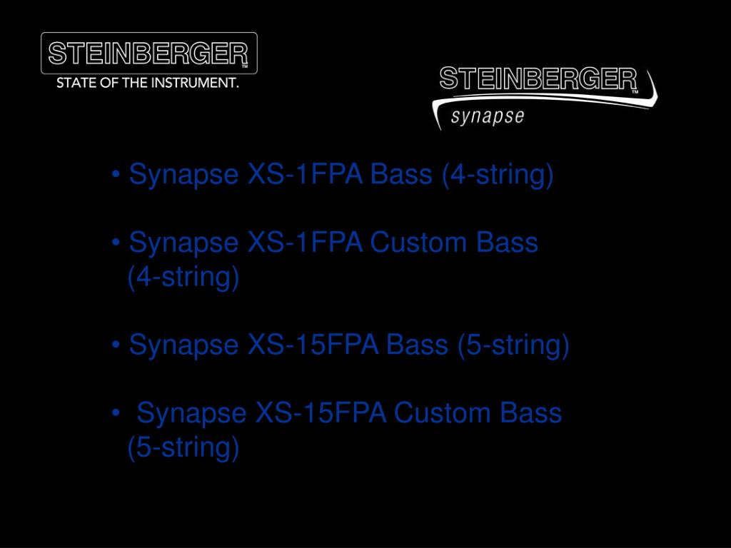 Synapse XS-1FPA Bass (4-string)