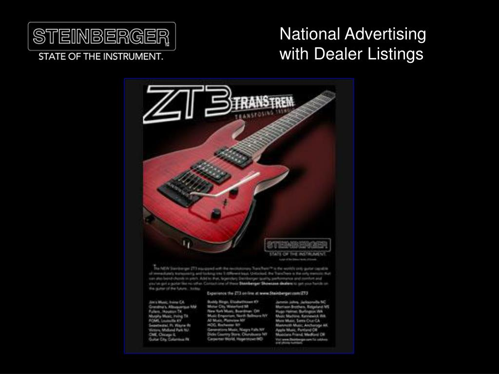 National Advertising with Dealer Listings