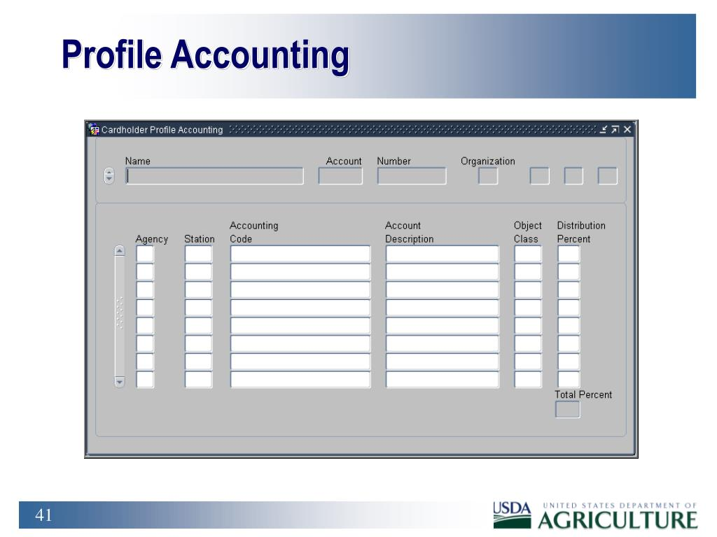 Profile Accounting