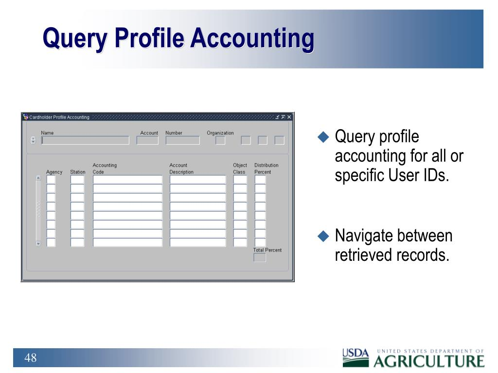 Query Profile Accounting