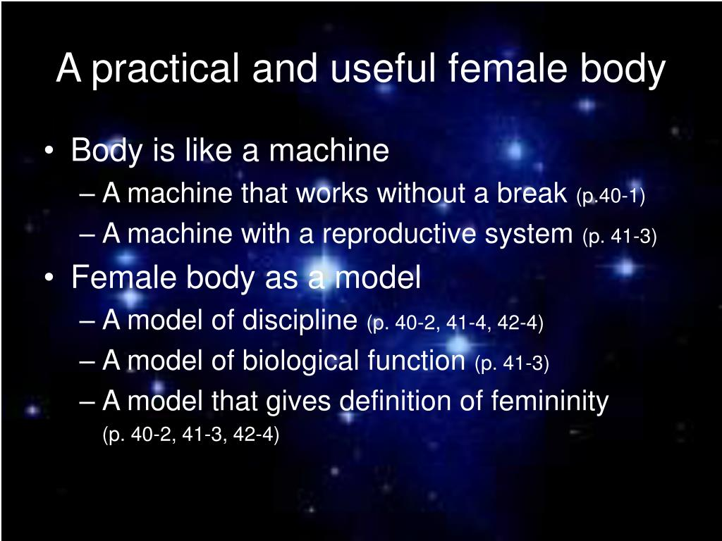 A practical and useful female body