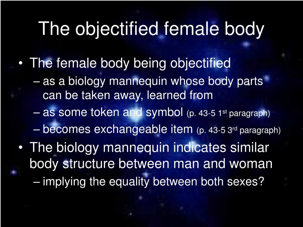 The objectified female body