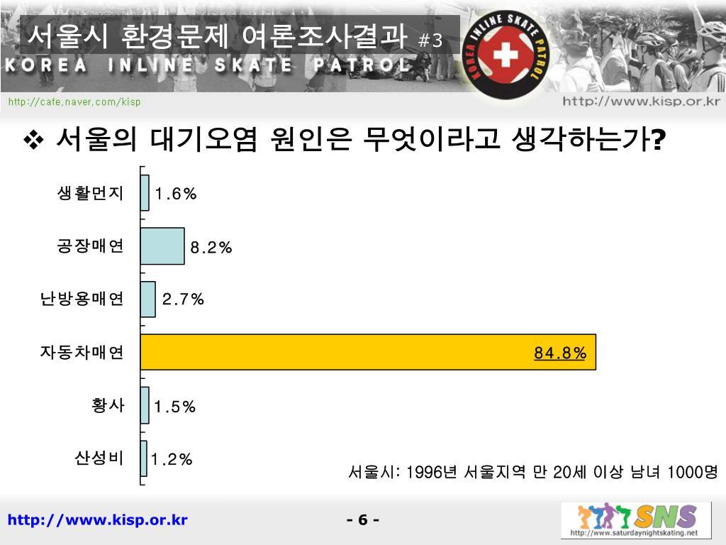 서울시 환경문제 여론조사결과