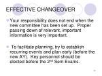 effective changeover
