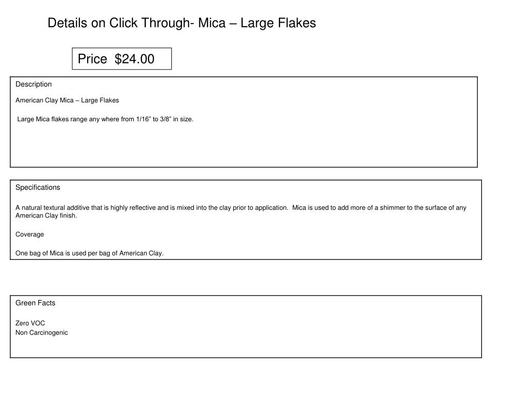 Details on Click Through- Mica – Large Flakes