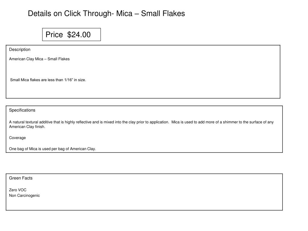 Details on Click Through- Mica – Small Flakes