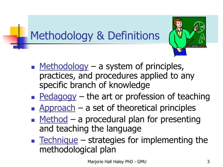 Methodology definitions