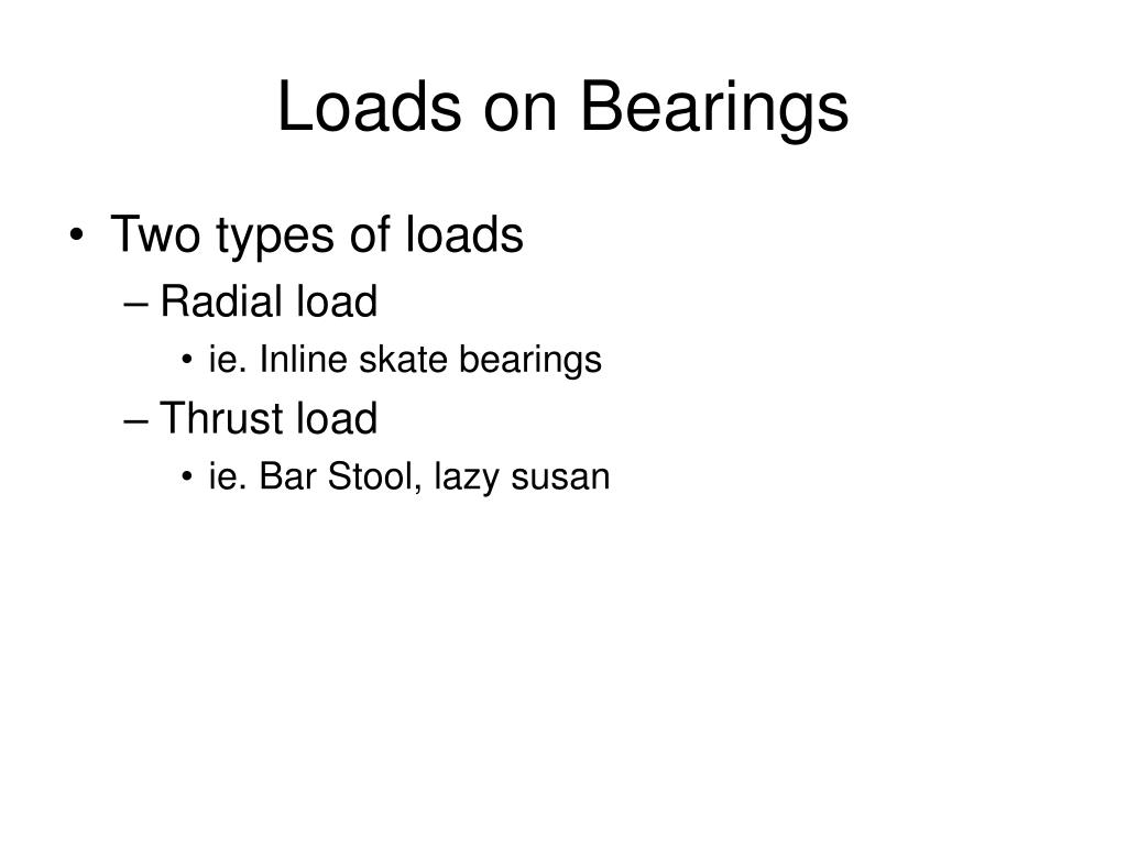Loads on Bearings