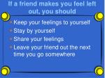if a friend makes you feel left out you should