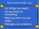 self control helps you