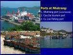 ports at nhatrang 1 nhatrang port commercial 2 cau da tourism port 3 cu lao fishing port