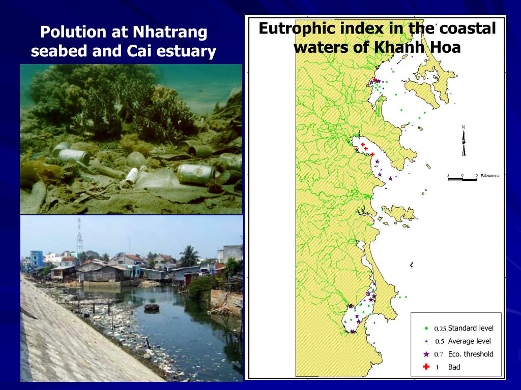 Eutrophic index in the coastal waters of Khanh Hoa