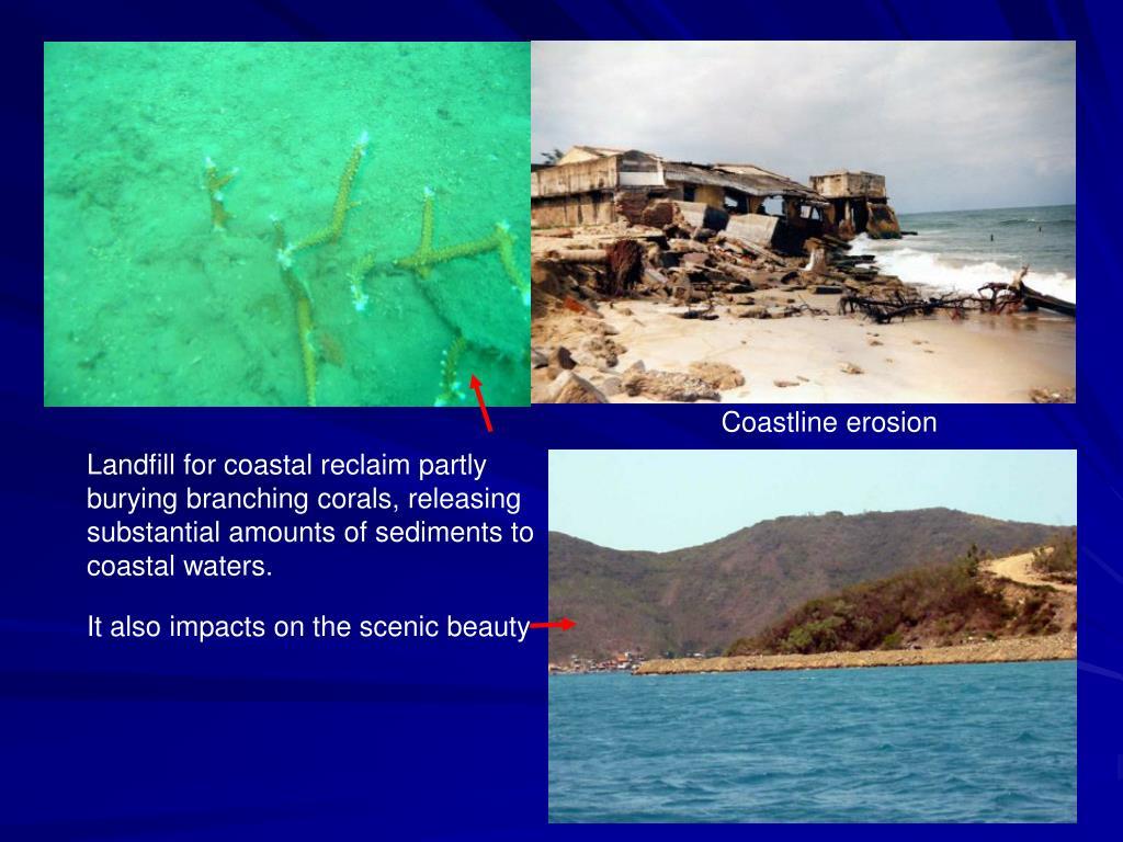 Coastline erosion