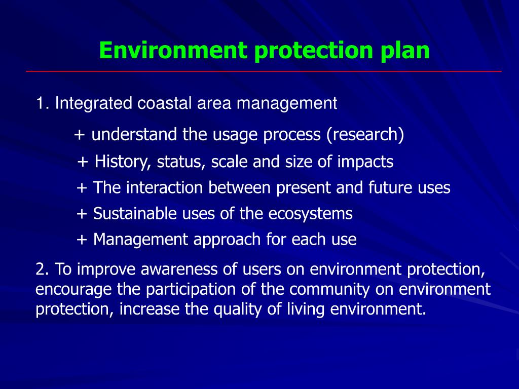 Environment protection plan
