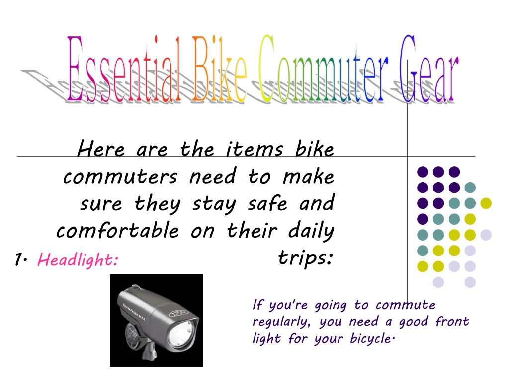 Essential Bike Commuter Gear