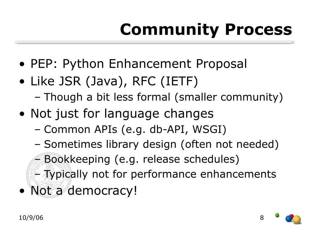 Community Process