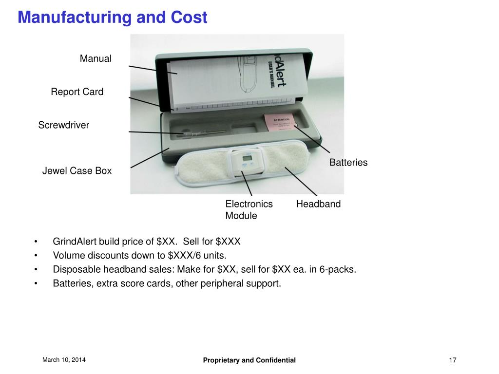 Manufacturing and Cost