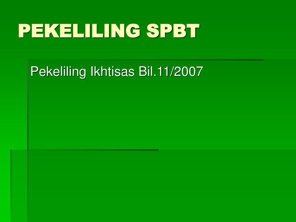 PEKELILING SPBT
