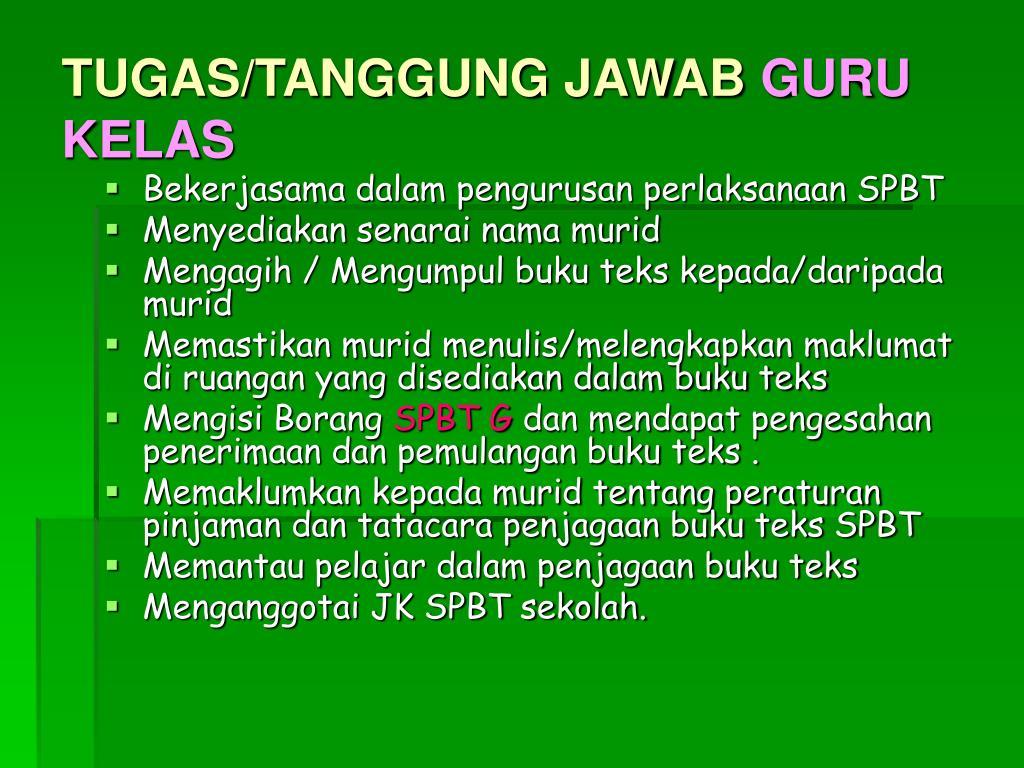TUGAS/TANGGUNG JAWAB