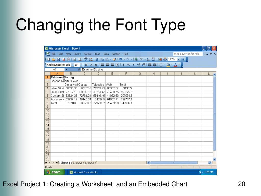 Changing the Font Type