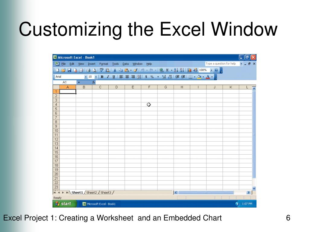 Customizing the Excel Window
