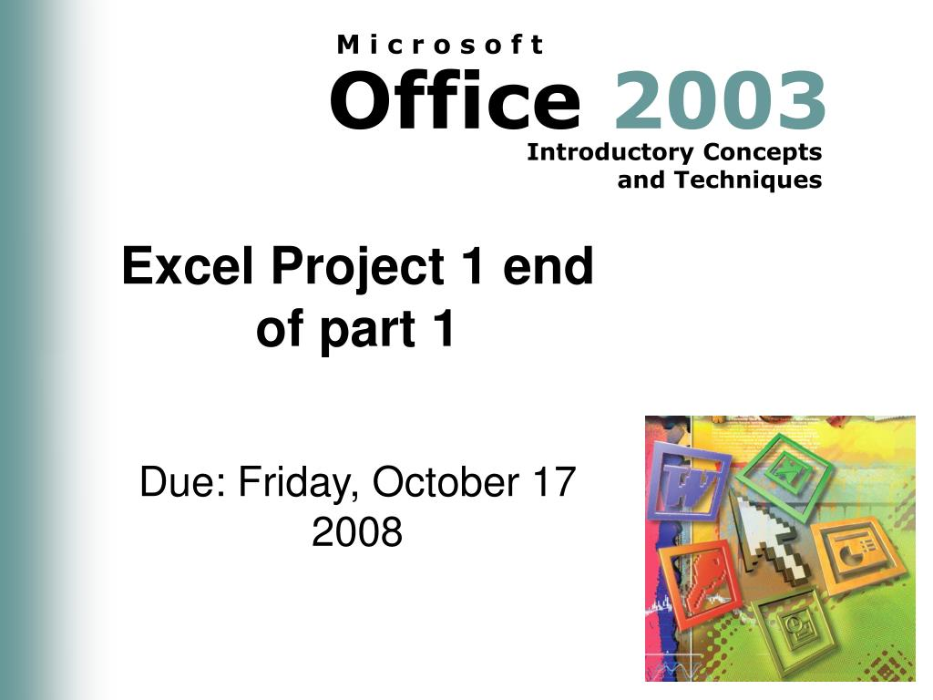 Excel Project 1 end of part 1