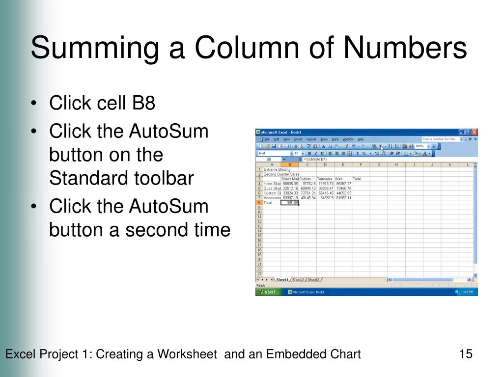 Summing a Column of Numbers
