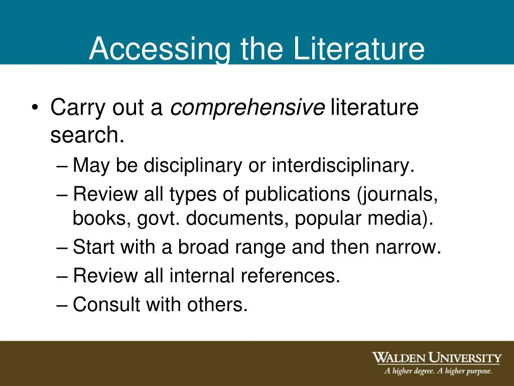 Accessing the Literature