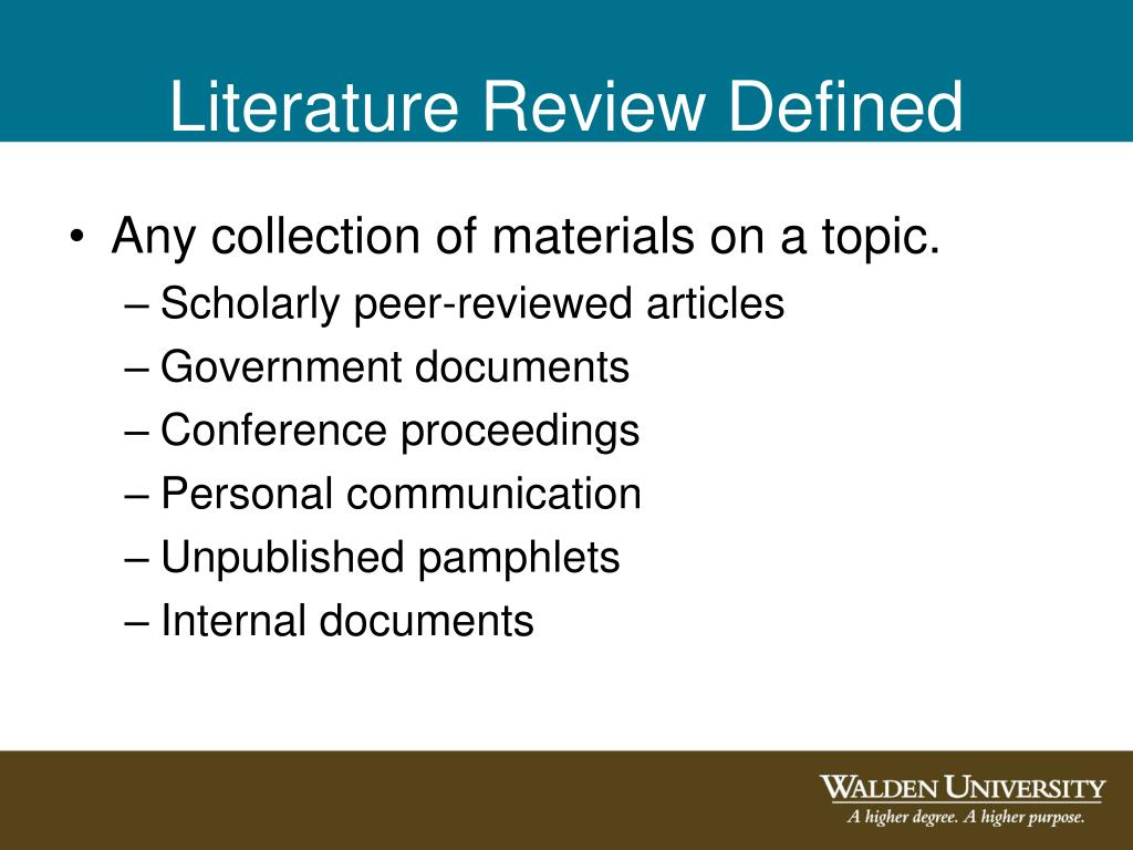Literature Review Defined
