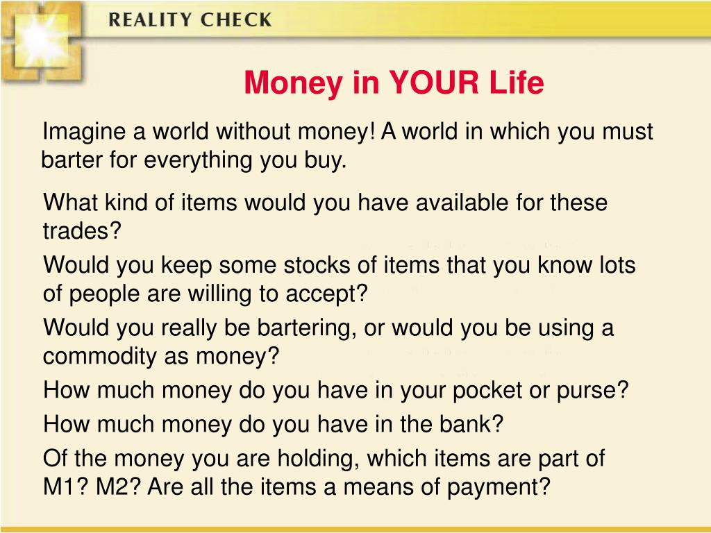Money in YOUR Life