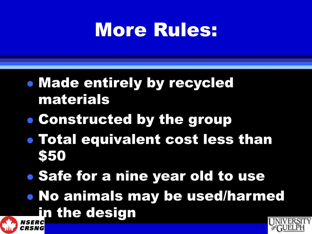 More Rules: